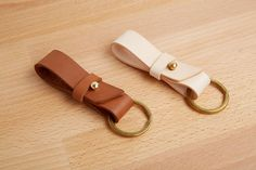 Handmade Leather Key Fob Keyring Key Chain Bautiful by MoreStraps, $12.00