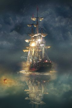 tulipnight:  Night Sail byEven Liu