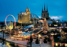 Erfurt (Thüringen) - Christmas market / Weihnachtsmarkt / Marché de Noël