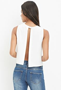 Tulip-Back Top - Tops - Blouses & Shirts - 2000156434 - Forever 21 EU English