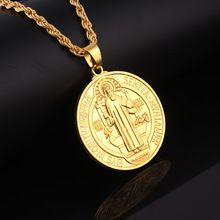20 pcs lot wholesale Jesus Piece Pendant Christian Long 80CM Chain Jewelry  Gift Wholesale Gold Plated Cross Necklace Men c998b61883c8