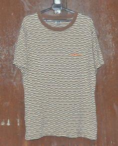 41e7de702e Items similar to Vintage 90s PIKO Hawaiian Longboard Wear Surf Surfing  Surfer Skate Stripes Striped T-Shirt on Etsy