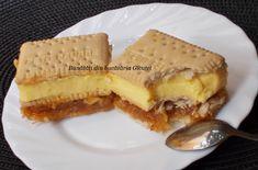 Prajitura cu biscuiti, mere si crema de vanilie - Bunătăți din bucătăria Gicuței Chocolate Pastry, Biscuit, Waffles, Cake Recipes, Cool Hairstyles, Deserts, Sweets, Bread, Cookies
