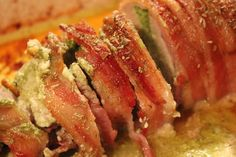 Roasted Pork Loin with Goat Cheese and Spinach Pesto