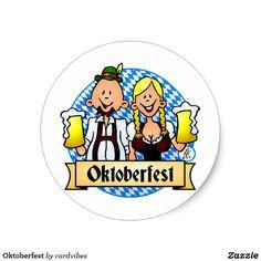 Oktoberfest Classic Round Sticker. #Oktoberfest  #Zazzle #Cardvibes #Tekenaartje #SOLD