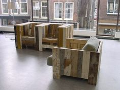 Repurposing pallets into chairs