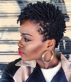 Short Natural Finger Coils Fauxhawk