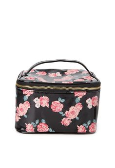 Rose Print Travel Cosmetic Case #Accessories