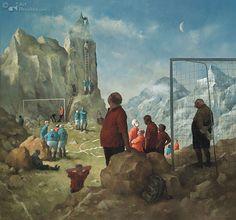 Topvoetbal   Marius van Dokkum - Art Revisited Dutch Artists, Great Artists, Marius, Mc Escher, Artist Brush, Z Arts, Dutch Painters, Norman Rockwell, Pop Surrealism
