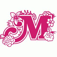Silhouette Design Store - Search Designs : secret garden m Monogram Letters, Letters And Numbers, Kirigami, Paper Lace, Letter Stencils, Silhouette Portrait, Letter Art, Silhouette Design, Paper Cutting