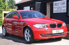 BMW 1 Series 2.0 118d Sport 5dr Hatchback Diesel Crimson Red at Simon Shield Cars Tel: 01473 658091.  £30 tax per year
