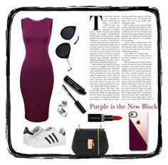 """""""Purple, the New Black"""" by queen1997nat on Polyvore featuring adidas, Chloé, Smashbox, Bobbi Brown Cosmetics and Casetify"""