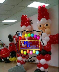Santa de globos grande