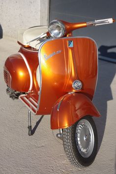 an orange scooter. I bow down to you.