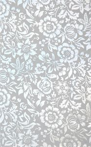 floral design silver foil on white matt foiled decorative paper - Decorative Paper