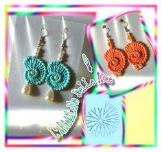 Crochet Jewelry Patterns, Crochet Earrings Pattern, Crochet Flower Patterns, Crochet Bracelet, Crochet Accessories, Crochet Designs, Crochet Flowers, Crochet Diagram, Crochet Chart