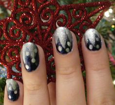 Winter Icicle Nail Art Tutorial