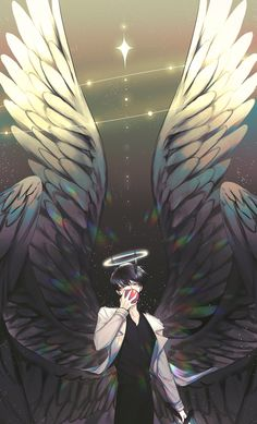 Fantasy Character Design, Character Art, Dark Anime Guys, Angel And Devil, Angels And Demons, Handsome Anime, Boy Art, Manhwa, Fantasy Characters