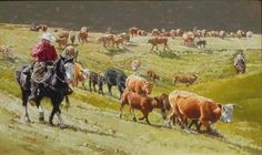 "Jeff Segler ""Heading for Summer Pastures"""