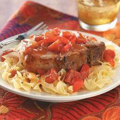 Crock pot pork chops.  Sounds good.  Pork roast or pork tenderloin also an option.