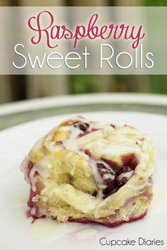 Cupcake Diaries: Raspberry Sweet Rolls