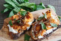 Roasted Sweet Potato Crostini from Freshfromevaskitchen