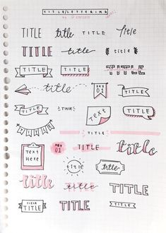 Bullet Journal Setup Ideas {The layouts your BUJO might be missing!} Take your bujo to the next level with these creative Bullet Journal setup ideas (that you can adopt at any time of the year! Bullet Journal Inspo, Organization Bullet Journal, Bullet Journal Headers, Bullet Journal Title Fonts, Bullet Journal Banner, Bullet Journal Beginning, Bullet Journal Ideas Handwriting, Bullet Journal Inspiration Creative, Cute Handwriting Fonts