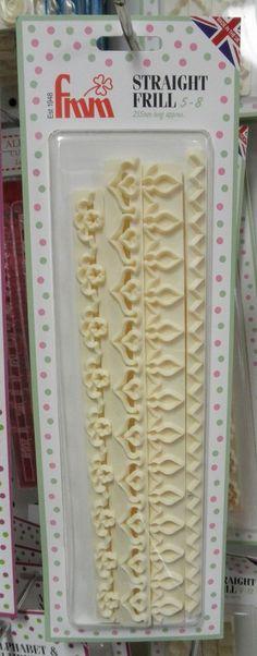 FMM Straight Frill Cutter #2 (set of 4) fondant cake decorating gum paste #FMM