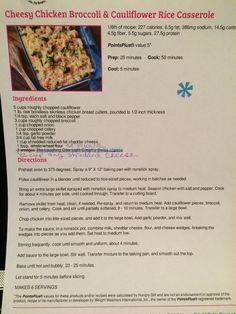 Cheesy chicken broccoli & cauliflower rice casserole