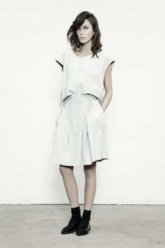 Craft Leather Tee . Soya Leather Skirt
