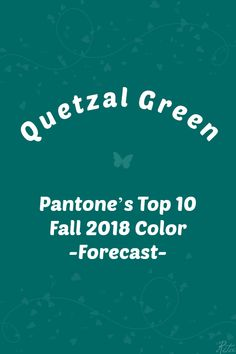 Pantone F/W 2018 color trend :Quetzal Green Pantone Colour Palettes, Pantone Color, Pantone Green, Cafe Creme, Pink Peacoat, Red Pear, Little Boy Blue, Red And Teal, Energy Projects