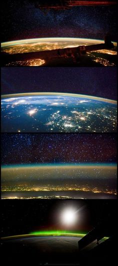 nice Taken from the International Space Station, these impressive time-lapse images c...