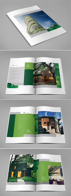 Real Estate Brochure, flyer layout A4 grid, property development - sample real estate brochure