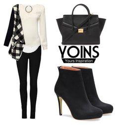 """YOINS Cardigan"" by tania-alves ❤ liked on Polyvore featuring River Island, Forever 21, women's clothing, women's fashion, women, female, woman, misses, juniors and yoins"