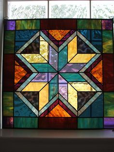 quilt stained glass window by Bamasusanna, via Flickr