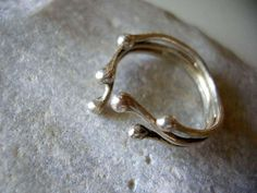 Sterling Silver Blossoming Branches Ring. Twig by maroulina, $45.00