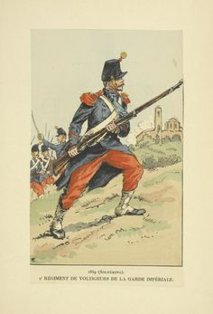 1859 Solferino - Volunteers of the regiment of the Imperial Army  1859 Solferino - Regiment de voltigeurs de la guarde imperiale