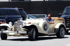 Arnold Schwarzenegger in his Excalibur