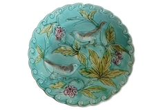 Majolica Birds    Wall Plate