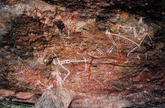 Ancient paintings in Jabiru, Australia