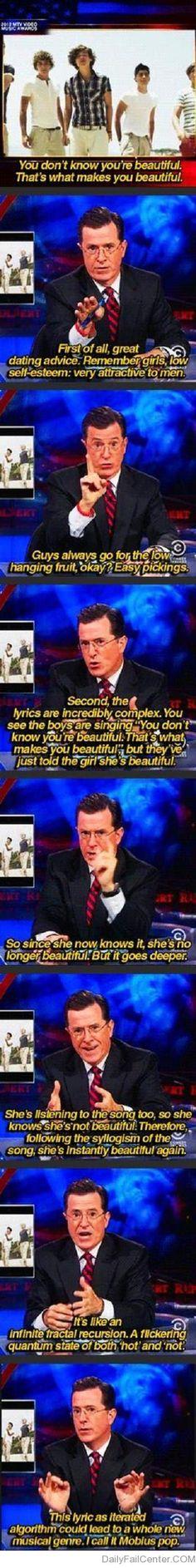 Brilliant Stephen Colbert | DailyFailCenter
