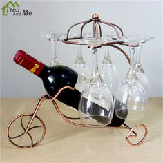 You And Me Classical Chariots Shape Wine Rack New Year Gift Home Decor Modern Wine Bottle Shelf Living Room Wine Accessories