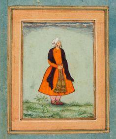 Attributed to Basawan, Courtier Awaiting Akbar's Command, c. 1575, Harvard Art Museums/Arthur M. Sackler Museum.