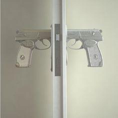 awesomee.  gun doorknobs. fancy.com