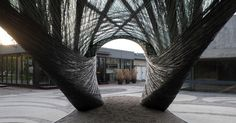 Drones and Robots Wove The University Of Stuttgart's Otherworldly Pavilion http://ift.tt/2og9fMz