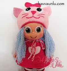 Ravelry: Amigurumi Cat Doll pattern by Havva Ünlü
