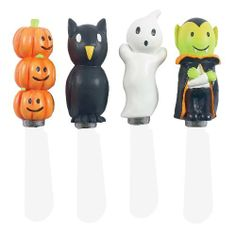 Boston Warehouse Happy Hauntings Spreader, Set of 4 by Boston Warehouse. $11.02. By boston warehouse - creative ideas for home entertaining; holiday design. Set of 4 spreaders. Hand wash recommended. Stainless steel blade and hand painted handle. 5-Inch long. The Boston Warehouse Happy Hauntings series is filled with culinary treats, and a few tricks, to keep your kitchen and entertaining fun. The set of 4 spooky spreaders are made of 5-Inch stainless steel blades with ha...
