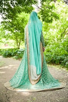 mint green indian wedding dress
