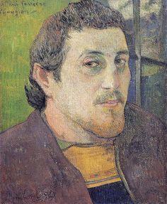 1888 Self Portrait at Lezaven - Paul Gaugin
