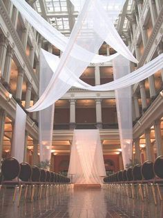 Ceremony draping idea